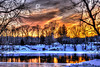 Ice on Fire (Bangor, PA) (a2roland) Tags: normanzeba2rolandyahoocoma2roland belvidere nj norm delaware river cold evening trees houses bank shore coast water ice snow sleet rain photo flickr picture hut sky yellow blue red tint color reflection clouds gettyimages getty image stock id 552049659 © norman zeb photography all rights reserved