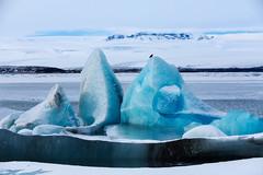 Ice statue (Donald L.) Tags: winter ice iceland lagoon iceberg jokulsarlon icestatue glacierbackground