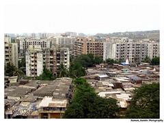 Hills-Towers-Slums (Raman_Rambo) Tags: india building tower buildings indian hill hills huts hut maharashtra mumbai slum slums ramansharma ramansharmadombivli