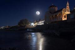 ... (Theophilos) Tags: sea moon reflection church night crete rethymno νύχτα εκκλησία κρήτη φεγγάρι θάλασσα αντανάκλαση ρέθυμνο
