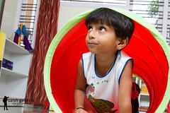 tunnel (saish746) Tags: school boy india playing color love girl kids ball balloons fun toys kid shoot play photos colorfull indian bangalore balls tunnel class just pre innocence learning preschool socializing montessori galleria saish