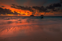 Lanikai Awakening (rayman102) Tags: sunset seascape landscape hawaii oahu coastal hanaumabay windward kailua lanikai mokuluaislands lanikaibeach