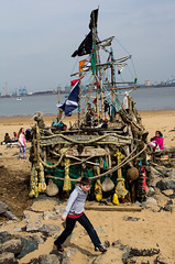 On the Rocks (The Crewe Chronicler) Tags: sea beach canon seaside spring sand mersey wirral pirateship theblackpearl thewirral canon60d newbrighto blackpearl2