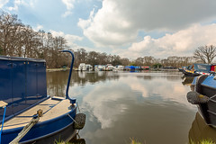 Pyrford Marina LR6 HdrTest 3 (inkslinger15) Tags: sky water clouds marina boats hdr wisley barges bracketed promotecontrol