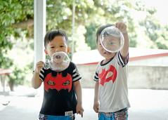 (brave22222) Tags: boy kid twins child bubbles nex   sel35f18