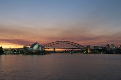 Tasmania and Sydney (rand_osk) Tags: sunset house skyline opera sydney australia operahouse habourbridge