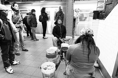 Subway Ensemble (Number Johnny 5) Tags: street new york city nyc subway movement candid buskers d750 april performer tamron busking 2470mm 2015
