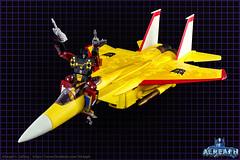 MP-05 Sunstorm & Rumble (Alreaph's Gallery) Tags: sun storm yellow jaune plane robot rumble transformer flames transformers cassette seeker takara sunstorm tomy seekers mp5 avion masterpiece hasbro frenzy decepticon soundwave starscream f15 flammes k7 cybertron mp6 mp11 skywarp thundercracker mp05 nullray arkeville mp11sw alreaph