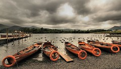 Ducks and Drakes (Wizard Snaps) Tags: rowers boats boat lake beach derwentwater weather sky clouds canon 700d eos photography lakedistrict swimming water mere keswick steamer walk walking