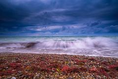 Strand Warnemnde (maritimes.hamburg) Tags: ocean sea strand landscape deutschland warnemnde meer wolken baltic landschaft ostsee regen sturm ostseebad