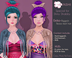 [^.^Ayashi^.^] Emiko hair special for ~Shiny Shabby~ (Ikira Frimon) Tags: life anime cute girl fashion hair blog costume outfit nice doll post mesh cosplay head blogger follow special sl event bow kawaii second curl lovely m3 sensuality bang hud quiff exclusive hairs rigged heartbreaker barrette beautifully kawai emiko sexually topknot tsg ayashi forelock bobbypin unevenbangs kisscurl lockofhair ikira frimon utilizator shinyshabby obliquefringe