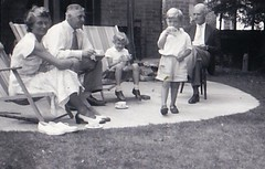 With Lionel and Mary at Farnborough 1955 (Bury Gardener) Tags: oldies bw blackandwhite uk