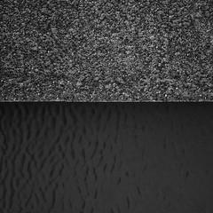 Separation () Tags: lines water blackandwhite minimalism minimal 1x1 concrete separation