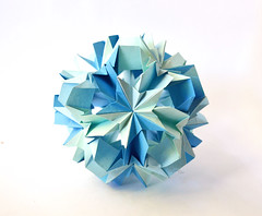 Wisteria Kusudama (Maslova Alina) Tags: k origami wisteria origamistar kusudama lukashevaekaterina ekaterinalukasheva