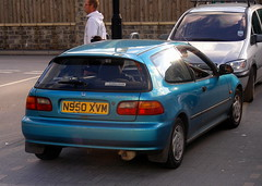 Honda  Civic  1995 (Lawrence Peregrine-Trousers) Tags: autoshite ffffffffff car cars spotted old honda civic