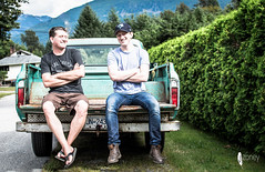 Tailgate party (JSTAR377) Tags: family boys truck vintage father son tailgate truc