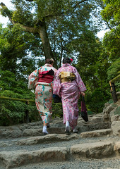 Chinese tourist women wearing geisha kimonos in a zen garden, Kansai region, Kyoto, Japan (Eric Lafforgue) Tags: trip travel white men travelling tourism beautiful wearing japan vertical female hair walking asian outdoors japanese clothing women kyoto asia day dress adult feminine painted culture makeup tourist grace clothes geisha kimono gion colourful rearview tradition fullframe foreign hairstyle 2people twopeople adultsonly cultural attraction traditionaldress customs elaborate destinations traditionalclothing traveldestinations colorimage fromtheback kansairegion unrecognizableperson colourpicture japan161562