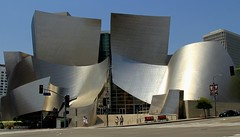 Walt Disney Concert Hall (Prayitno / Thank you for (10 millions +) views) Tags: california ca blue sky music building architecture frank design la town hall los concert downtown day time outdoor designer unique steel angles sunny down gehry center disney architect walt stainless konomark