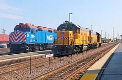 Scenes on the North Side (BravoDelta1999) Tags: unionpacific up railroad chicagoandnorthwestern cnw railway kenoshasubdivision waukegan illinois emd gp151 upy 700 metx f40ph 122
