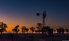 Last Light - Back Plains - Queensland - Australia (andrew.walker28) Tags: sunset red orange yellow glow night dusk windmill farm farmland back plains darling downs queensland australia