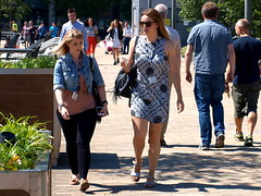 A Walk In The Sun (marbowd37) Tags: streetphotography salfordquays salford street mediacity people girl