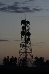 Seville tower (Carlos Antequera Folgado) Tags: sevilla seville spain espaa nikon carlosantequerafolgado europa d5100 70200 contraluz semana santa torre de corriente alta tension electricidad puesta sol