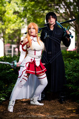 SP_44562 (Patcave) Tags: momocon momocon2016 2016 convention cosplay costumes cosplayers portrait shoot shot canon 17 40mm f4 sigma 85mm f14 lens patcave 5d3 atlanta georgia world congress center outdoors hot humid asuna asunayuuki kirito asunaxkirito kiritoxasuna swordartonline sao