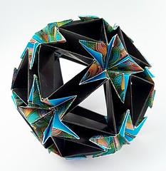 Wrap closure (Icosahedron with stars) (modular.dodecahedron) Tags: tomokofuse modularorigami icosahedron edgemodule