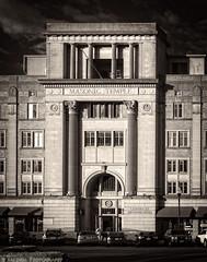 Masonic Past [1600ir-On1] (mjardeen) Tags: on1effects sony a7ii a7m2 mamiya 55mm 18 sx m42 mamiya55mm18 tacoma wa washington masonic temple brick architecture