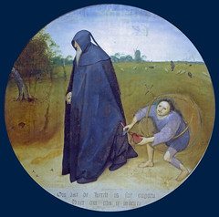 The misanthrop is robbed, his purse is cut off (petrus.agricola) Tags: pieter bruegel younger proverbs flemish netherlandish painting tondo