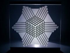 cube tesselation (Yarik__) Tags: origami paper tessellation cube shadow light geometrical 3d