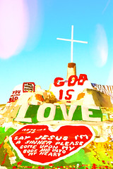 God is Love (Thomas Hawk) Tags: california imperialcounty niland saltonsea salvationmountain slabcity usa unitedstates unitedstatesofamerica cross