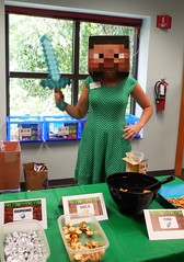Second annual Minecraft Party held at the Aboite branch on July 25, 2016 (ACPL) Tags: minecraft minecraftparty crafts photoop coloring
