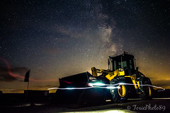 Wheelloader Lightpaint (ToxicPhoto89) Tags: milkyway milchstrasse samyang 16mm f2