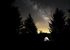 Sleeping under the stars (csnyder103) Tags: camping tent milkyway stars campsite graysonhighlands mountrogersnationalrecreationalarea balsams samyang14mmf28 canoneos6d longexposure