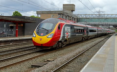 Virgin West Coast 390040 (dgh2222) Tags: pendolino class 390 390040 1h68 stafford station virgin radio promotional livery