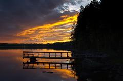 Laituri (terolah) Tags: sky evening pier laituri suomi hdr water lake jrvi taivas kes kesy summer summernight