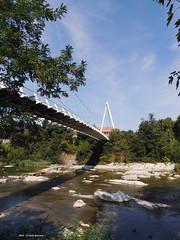 Ponte di Pace sul Reno (Paolo Bonassin) Tags: italy emiliaromagna casalecchiodireno pontedipace bridges ponti bridge ponte fiumi reno rivers fiumereno