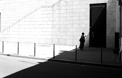 By passing the imaginary limit (pascalcolin1) Tags: paris13 ombre shadow lumire light soleil sun femme woman robe photoderue streetview urbanarte noiretblanc blackandwhite photopascalcolin