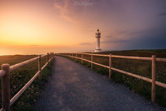 Faro de Ajo (Ivn F.) Tags: explore explorer nikon d800e samyang 12mm 28 light sunset sundown atardecer lighthouse faro ajo cantabria santander espaa spain tourism travel summer summertime composition lines blue warm gold yellow path sendero sea seascape water