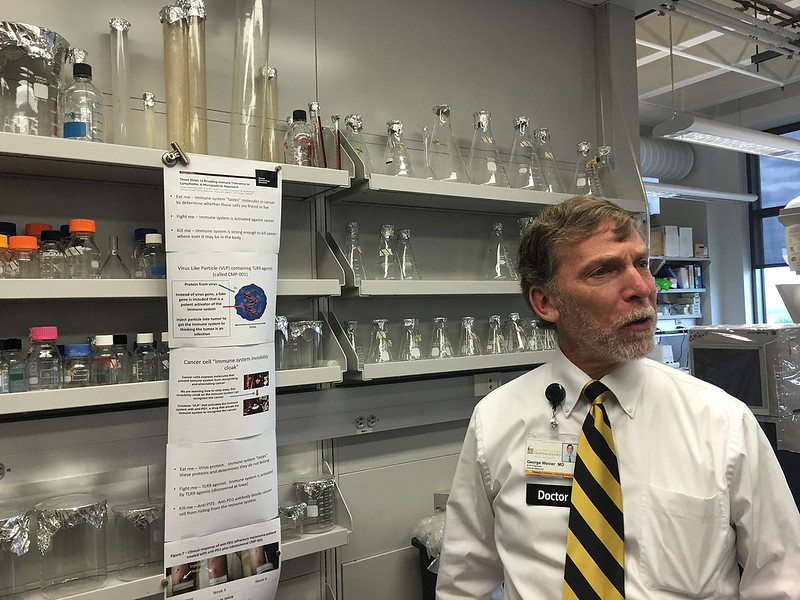 George Weiner, MD, gives a tour of his lab