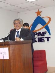 Cheif Guest (Dr Muzaffar Mehmood)