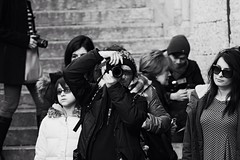 Photographer photographing photographer (stefano.roccato) Tags: street people blackandwhite streetphotography verona persons photographing piazzadellasignoria ptotographer