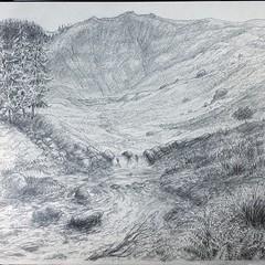 Cwm ger Dinas Mawddwy (FfotoMarc) Tags: art wales square drawing cymru squareformat cymraeg celf llanymawddwy instagramapp