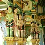 Statues in the temple/shrine at Sumeru Mountain in Muang Boran (Ancient Siam) in Samut Prakan, Thailand thumbnail