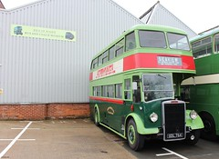 Leyland bodied Leyland Titan PD2 GDL764 at IOW Bus Museum 29 March 2015 (IslandYorkie) Tags: buses isleofwight doubledecker ryde vintagebuses halfcabs preservedbuses seaviewservices restoredbuses isleofwightbusmuseum busesinthesouthofengland busesontheisleofwight isleofwightbusmuseummembersday2015