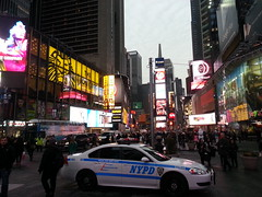 NYPD car on Times Square, New York