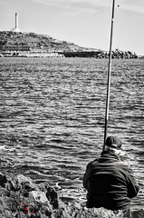 The Fisherman (MikePhotoArt) Tags: life street light portrait bw fish black mike rain set work vintage landscape photo reflex fisherman eyes nikon italia photographer fineart streetphotography natura m42 zenit acqua 58mm f8 rule bianco ritratto nero manualfocus salento puglia winston bianconero henricartierbresson lecce pescatore professionalphotography vintagephoto paese streetphotographer retrò leuca m42lens santamariadileuca vintagelens blackewhite estremità zenithelios44m6 puntaditalia nikond7000 iamnikon zenit58mm bizzantini mikephotoart