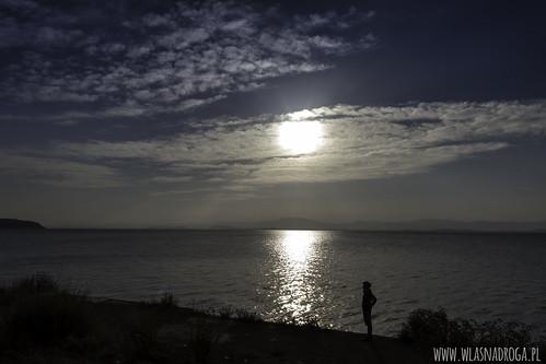 Wschód słońca nad Dian Chi niedaleko Kunming