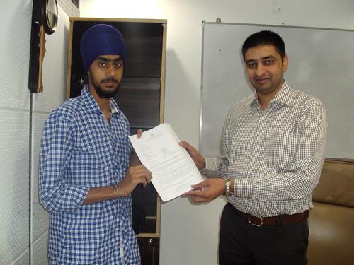 Director handling Australia Student visa to Manjot Singh
